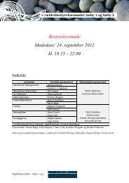 Bestyrelsesmøde Mødedato: 24. september 2012 ... - Sæby og opland