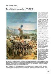 Revolutionernes epoke 1776-1848 - VUF Historie hold 643