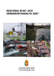 regional risk- och sårbarhetsanalys 2007 - Länsstyrelsen i ...
