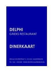DELPHI DINERKAART - Delphi Grieks Restaurant