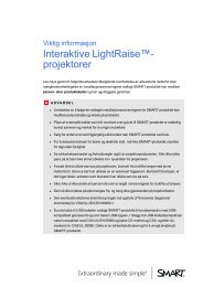 Important Information for LightRaise interactive projectors - SMART ...