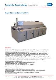 Technische Beschreibung Compact C2.1 Nitro REFLOW-LÖTSYSTEM