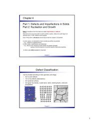 Chapter 4 Part 1: Defects and Imperfections in Solids Part 2 ...