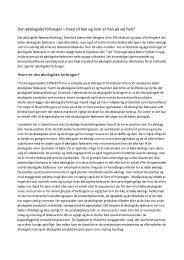 Sammendrag_Sinne Smed - Økologi-Kongres 2013