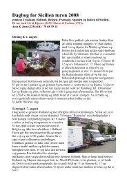 Dagbog for Sicilien turen 2008 - Dansk Autocamper Forening