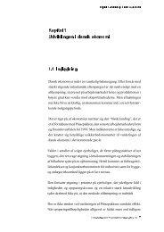 Kapitel 1 Udviklingen i dansk økonomi