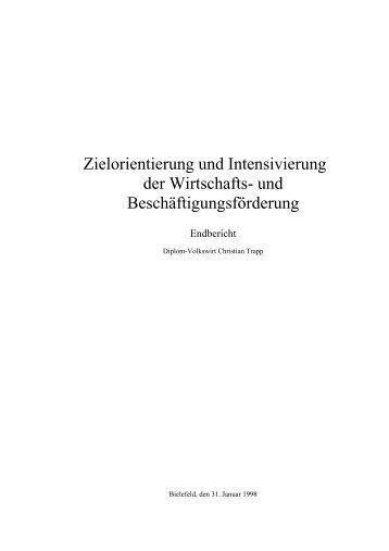 Zielorientierung und Intensivierung der Wirtschafts - Trapp und Partner