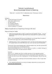 Teknisk Landsforbund Brancheudvalget Brand & Redning