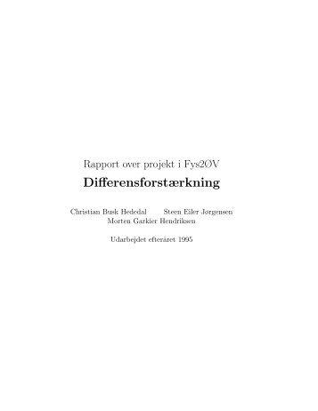 Differensforstærkning - Steen Eiler Jørgensen