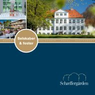 Selskaber og Fest brochure 2013 - Schæffergården