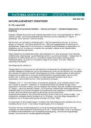 Dispensation fra bevarende lokalplan - Naturklagenævnet