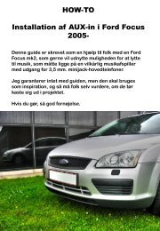 HOW-TO Installation af AUX-in i Ford Focus 2005-