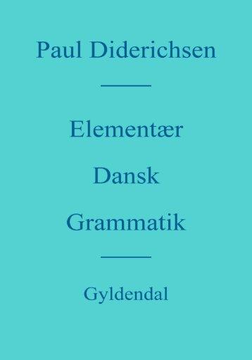 elementær dansk grammatik