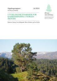 utviklingsscenarioer for karbonbinding i norges ... - Skog og landskap
