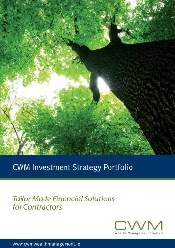 CWM Investment Strategy Portfolio Tailor Made Financial Solutions ...
