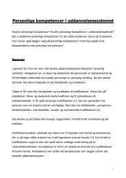 Personlige kompetencer i uddannelsessysteme - policy.dk