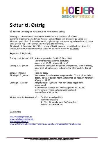 Info. skitur - Højer Design Efterskole