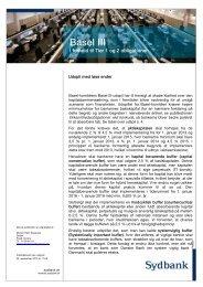 Basel III - Sydbank Markets