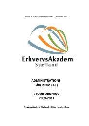administrations - Erhvervsakademi Sjælland