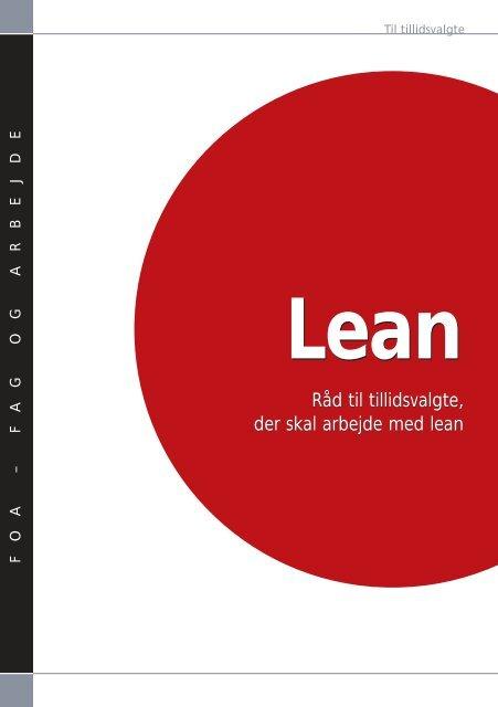 Lean - råd til tillidsvalgte, der skal arbejde med lean - FOA