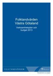 Verksamhetsplan och budget 2013Nytt fönster. - Västra ...