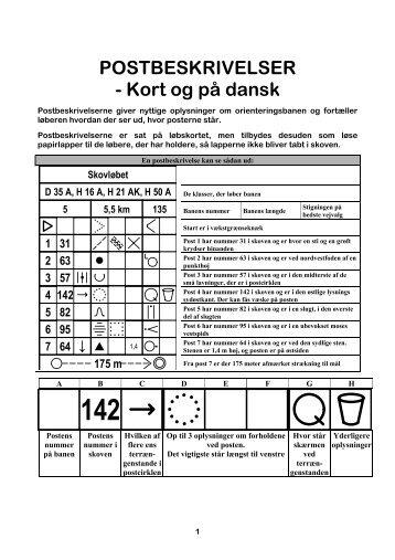 Postbeskrivelser - Dansk Orienterings-Forbund