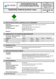 Arcal 121_124_CO2_HE_AR - Air Liquide Danmark A/S
