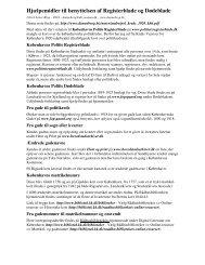 Hjælpemidler til benyttelsen af Registerblade og ... - Dannebrog