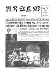 MELDINGSBLAD FOR SANNIDAL HISTORIELAG Gamle norske ...
