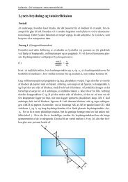 0BLysets brydning og totalrefleksion - matematikfysik