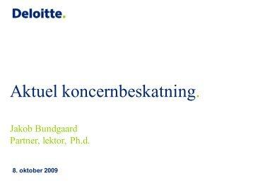 Aktuel koncernbeskatning (Danish), dated 8 October ... - Corit Advisory