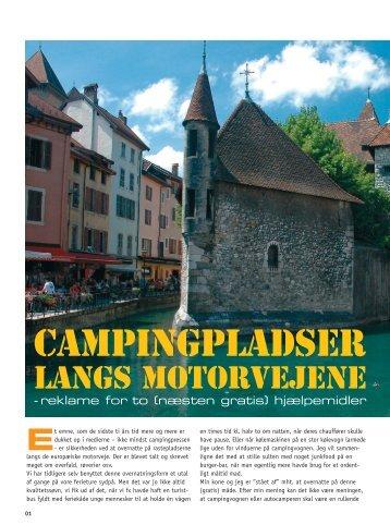 Campingpladser langs motorvejene - Kitta & Sven