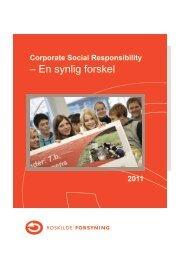 CSR 2011 - en synlig forskel - Roskilde Forsyning