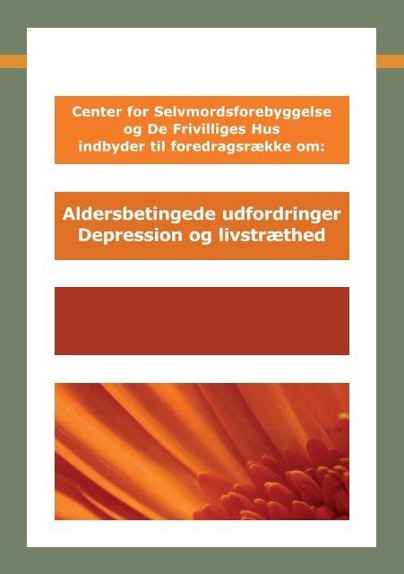 Foredrag - Depression (PDF) - De Frivilliges Hus