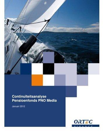 Continuïteitsanalyse Pensioenfonds PNO Media