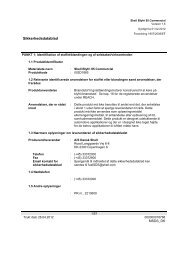 Shell Blyfri 95 Commercial - Sikkerhedsdatablad - dlg