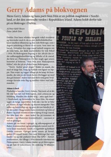 Gerry Adams på blokvognen - Skribenten