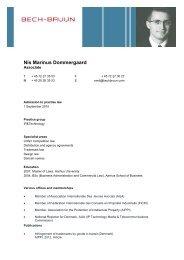 MARINUS DOMMERGAARD, Nis - CV - Union Internationale des ...