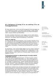 Høringssvar vedr. forslag til lov om ændring af lov om ...