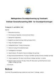 Hent referat grundejerforening - Grundejerforeningen Møllegården