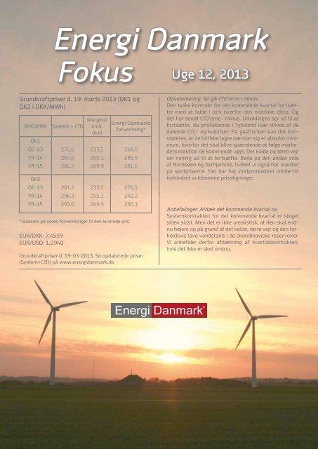 Energi Danmark Fokus uge 12- 2013 - Energi Salg Norge
