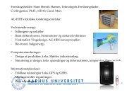 Foredragsholder: Hans Henrik Hansen, Teknologisk ...
