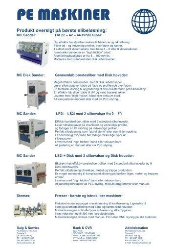 pdf STOR - Prof - produktoversig - DK - 110111 - PE Maskiner