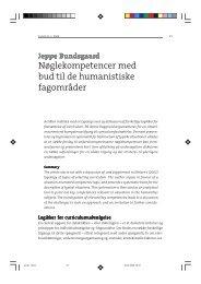 Nøglekompetencer med bud til de humanistiske fagområder - Jeppe ...