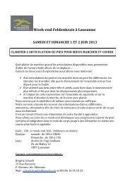 Week-end 1 et 2 juin 2013 - Ateliers du mouvement Feldenkrais