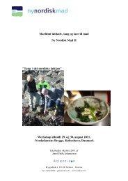 Maritimt initiativ, tang og tare til mad Ny Nordisk ... - Ny Nordisk Mat