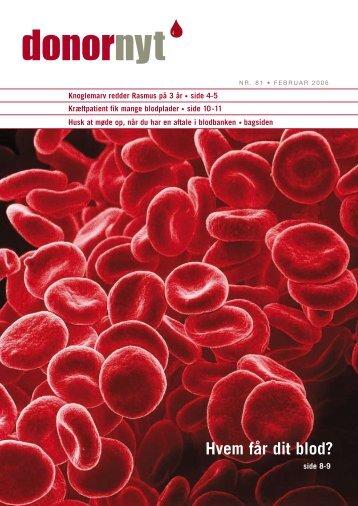 Hvem får dit blod? - Bloddonorerne i Danmark