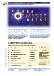 Vores kosmiske rejse - Tycho Brahe Planetarium
