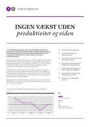 ingen vækst uden produktivitet og viden elektronisk udgave - DI ...