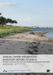 Annual Danish informative inventory report to UNECE. Emission ...
